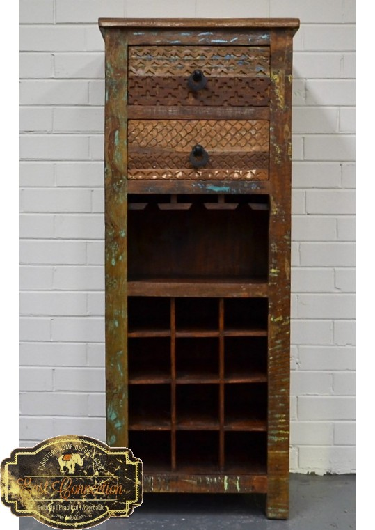 Recycled Timber Wine Storage Cabinet