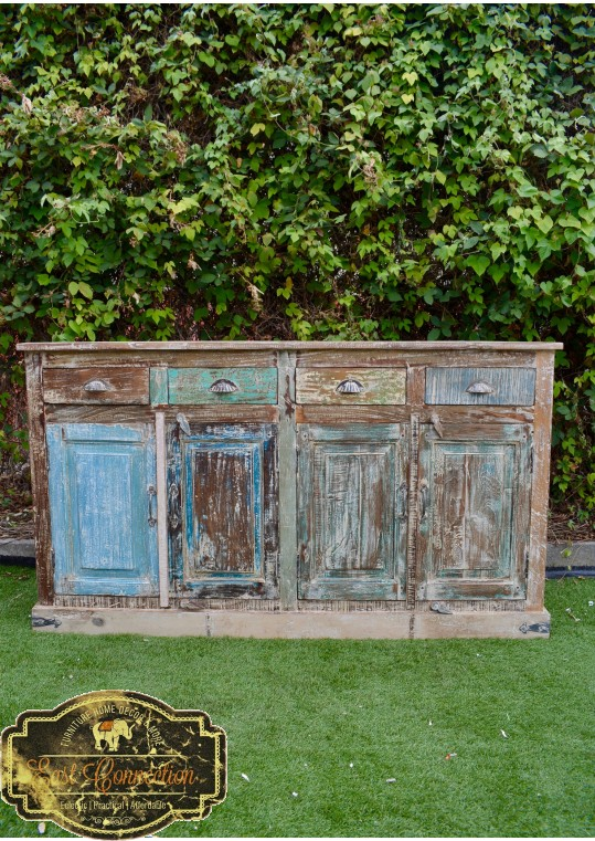 Shabby Chic Distressed French Country Recycled Timber Sideboard