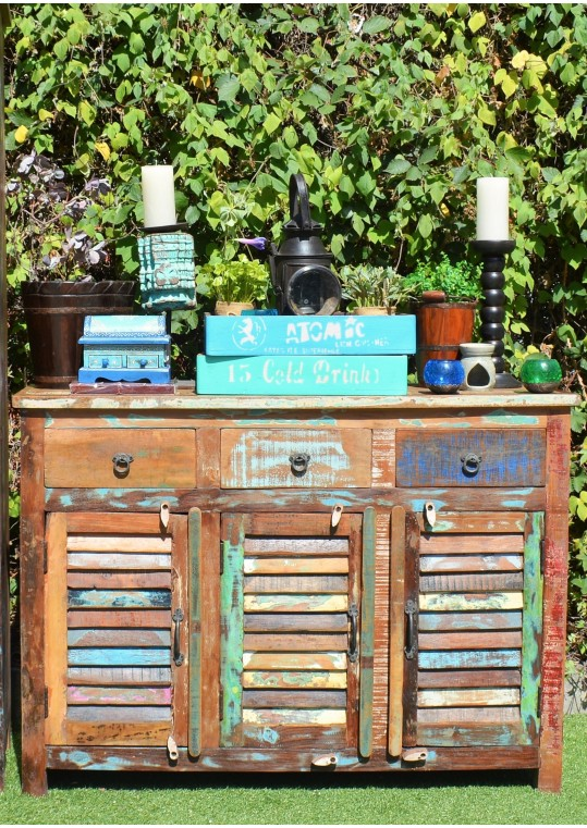 Recycled Timber Shutter Buffet Sideboard