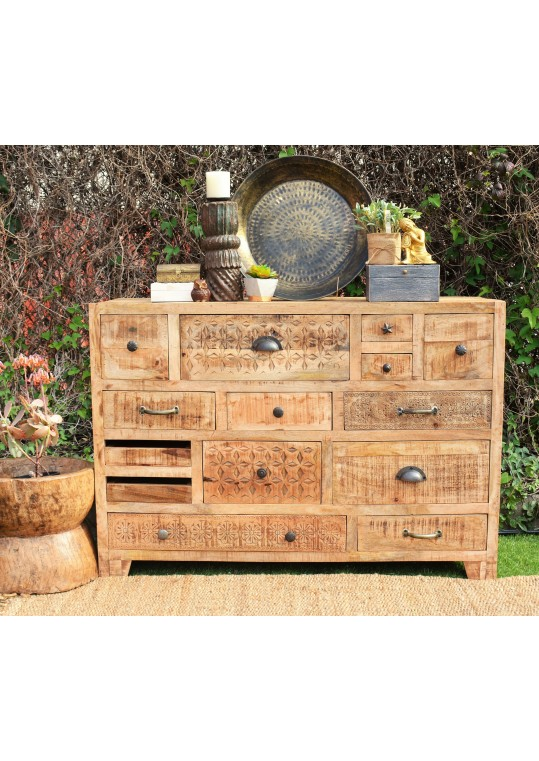 Scandinavian Timber Multi-drawer Sideboard