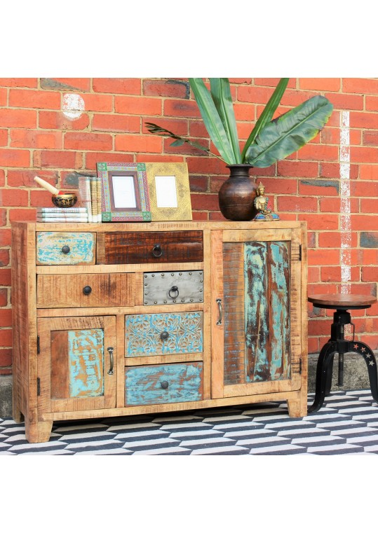 Rustic Multi-drawer Vintage Buffet Sideboard