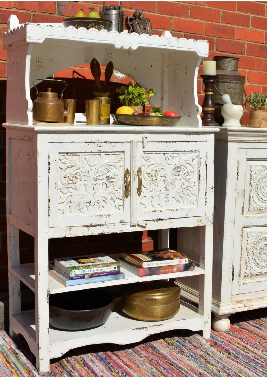 White French Provincial Shabby Chic Buffet & Hutch