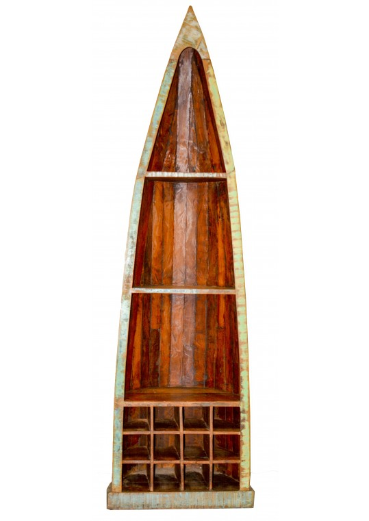 Reclaimed Timber Boat Wine Cabinet