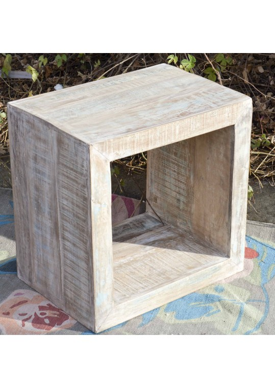 Shabby Chic Timber Storage Cube