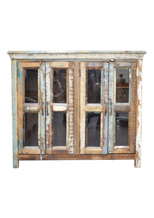 Reclaimed Timber Glass Door Sideboard