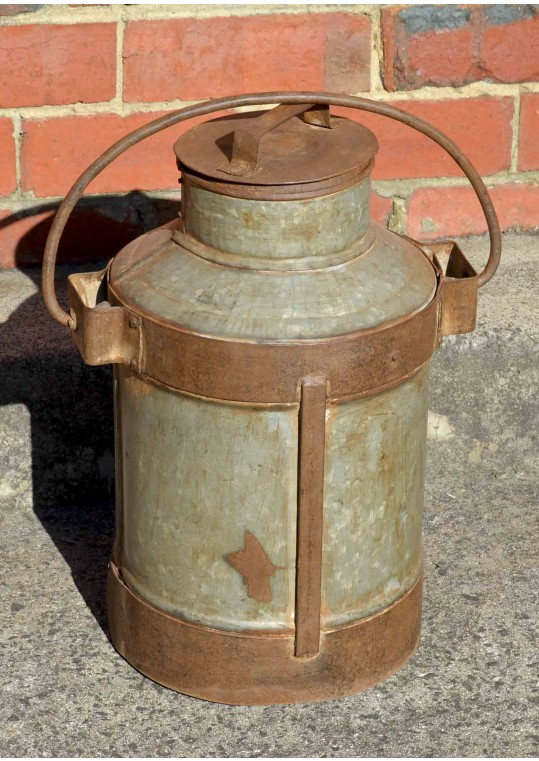 Vintage Metal Antique Indian Milk Urn