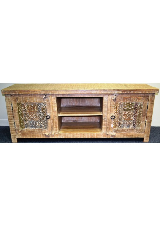 Hand Carved Shabby Chic TV Entertainment unit