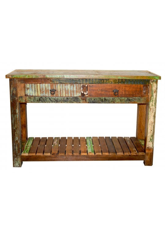 Recycled Timber  Console with shelf