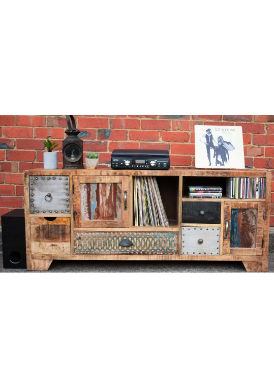 Scandinavian Timber Vintage Entertainment Unit