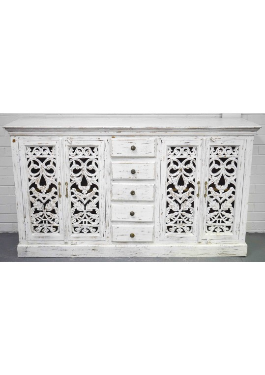 White Shabby Chic Painted French Country Sideboard