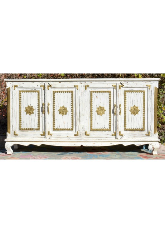 White French Shabby Chic Brass Fitted Sideboard