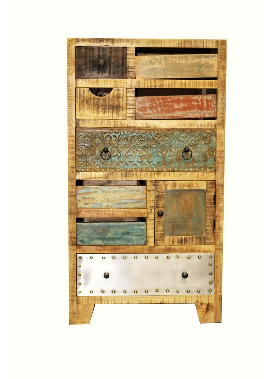 Rustic Multi-drawer Vintage Cabinet