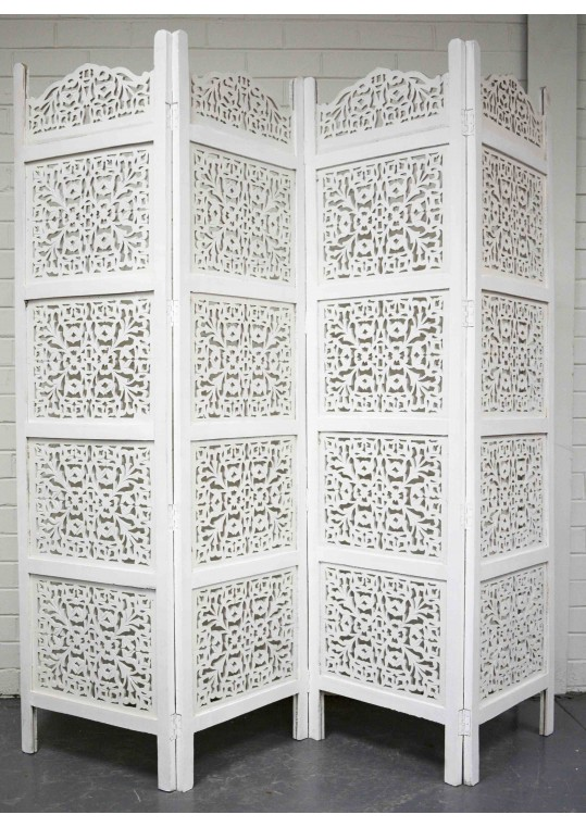 Shabby Chic Hand Carved IndianTimber Screen