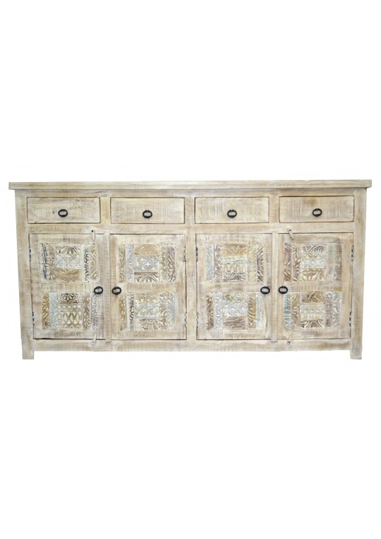 Hand Carved Shabby Chic Sideboard Buffet