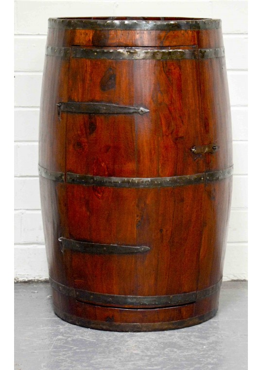 Reclaimed Timber Wine Barrel Cabinet