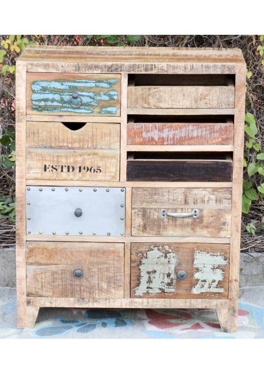 Scandinavian Timber Vintage Drawer Unit