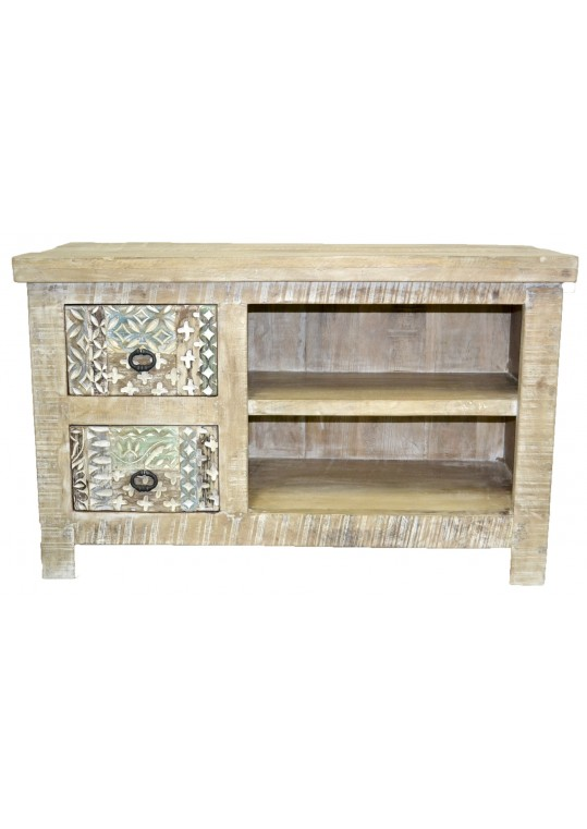 Hand carved Shabby Chic TV Stand
