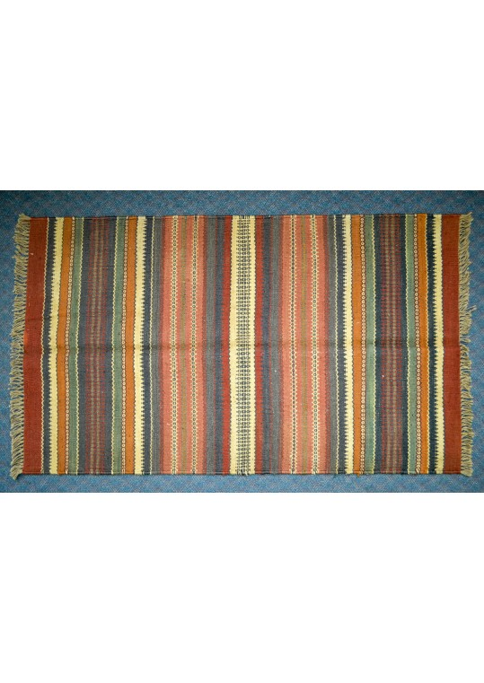 Hand Woven Wool Kilim Flat Tapestry