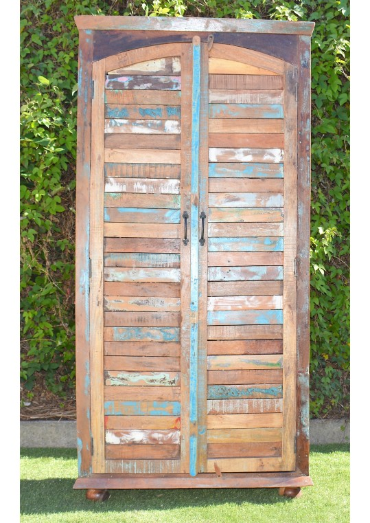 Reclaimed Timber Shutter Door Wardrobe Cabinet