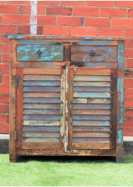Recycled Timber Reclaimed Shutter Sideboard Cabinet