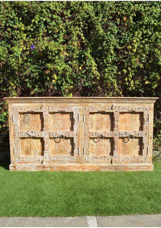 Reclaimed Antique Door Timber Sideboard Shabby Chic Buffet