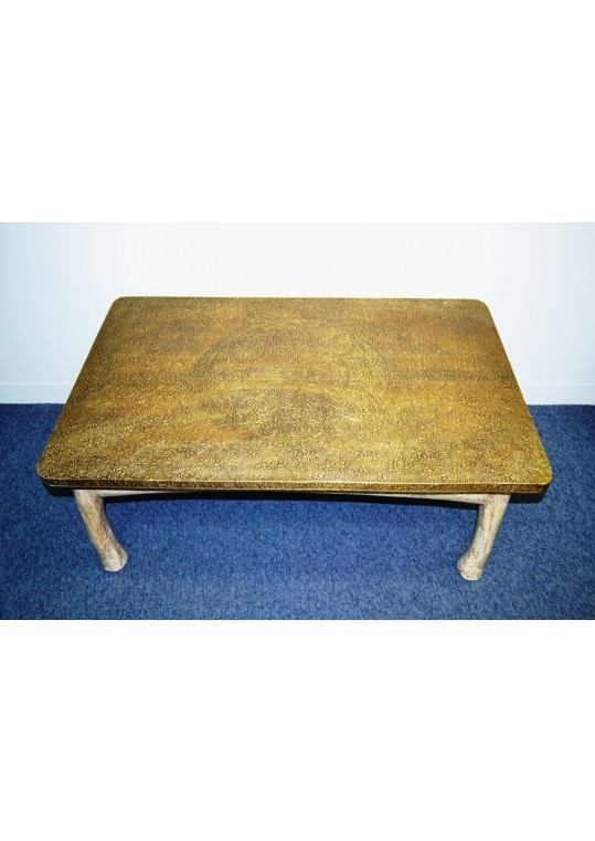 Full brass top table rectangular