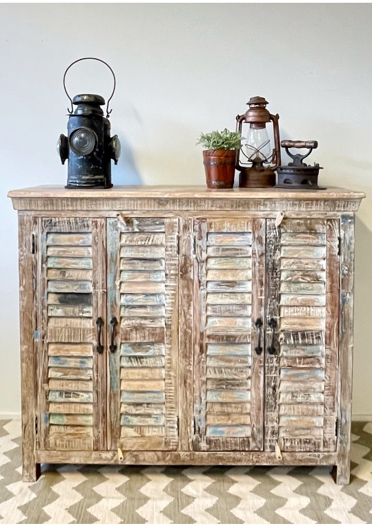 Shabby Chic Recycled Timber Shutter High Sideboard