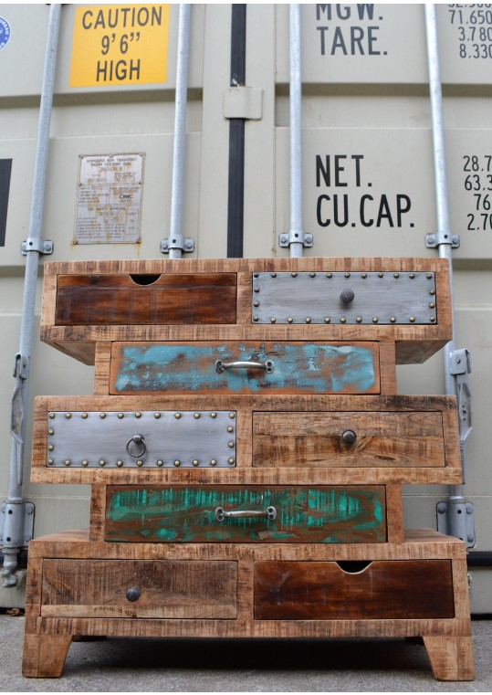 Recycled Timber Eclectic Vintage Industrial Drawers