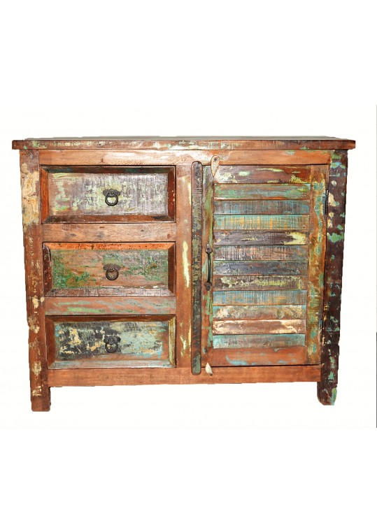 Recycled Timber Shutter Cabinet Vanity Unit